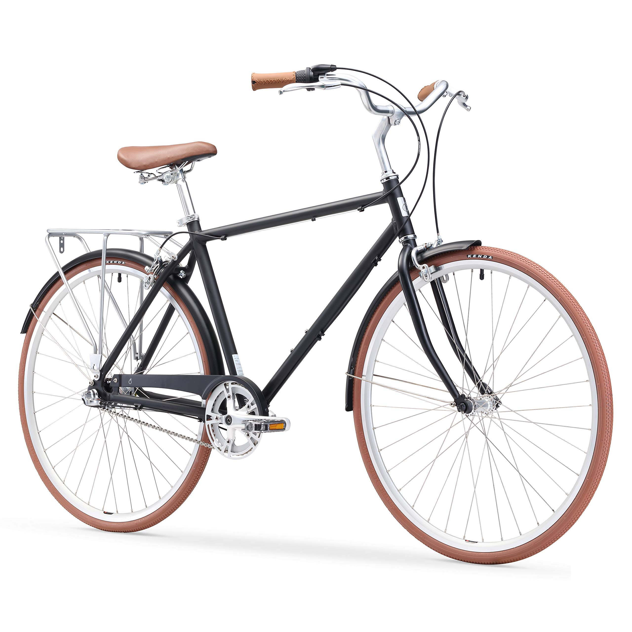 6599e6a7297 sixthreezero Ride in The Park Men's Touring City Road Bicycle with Rear  Rack product image
