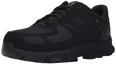Timberland PRO Men's Powertrain Alloy Toe ESD Low Work Shoe, Black Synthetic/Ripstop  Nylon