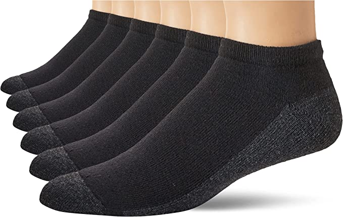 Hanes mens Max Cushion Low Cut Socks 6-pack