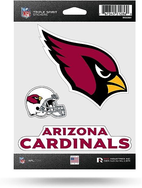 Rico Industries NCAA Louisville Cardinals Die Cut 3-Piece Triple Spirit Sticker Sheet
