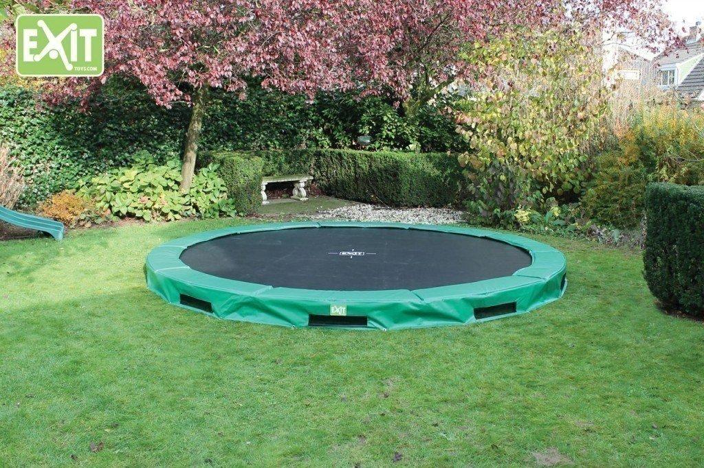 EXIT InTerra Trampolin, Durchmesser 366 cm