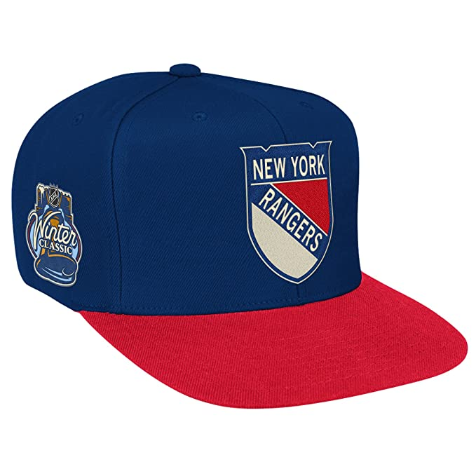 meet bc86f bfaff Amazon.com   NHL New York Rangers Winter Classic Snapback Hat, Royal, One  Size Fits All   Sports Fan Baseball Caps   Clothing