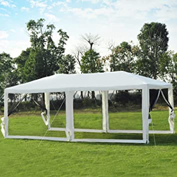 Outsunny Tonnelle Tente Pavillon de Jardin Chapiteau de Réception ...