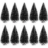Kicode 10 Confezione 9,5 centimetri di qualità Mini albero di Natale ornamenti decorazioni Regalo di Capodanno di natale