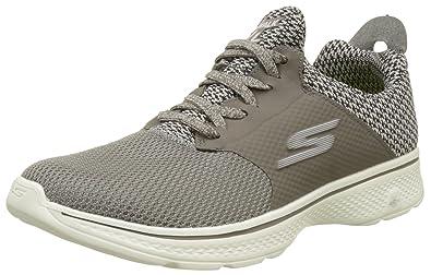 separation shoes 5b1f2 da49b Skechers Mens Gowalk 4 - Instinct Taupe Sneaker - 7.5