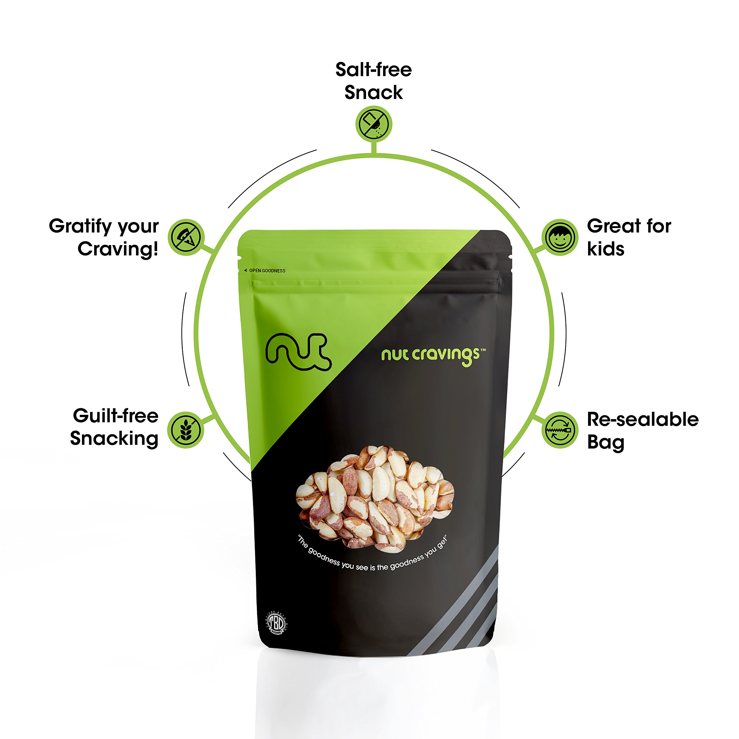 Nut Cravings Raw Compare To Organic Brazil Nuts (3 Pounds) – Whole, Unsalted, No Shell Brazilian Nuts – 48 Ounce by Nut Cravings (Image #4)