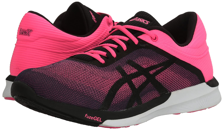 ASICS Women's Fuzex Rush Running Shoe B01GU2SGKM 9.5 B(M) US|Hot Pink/Black/White