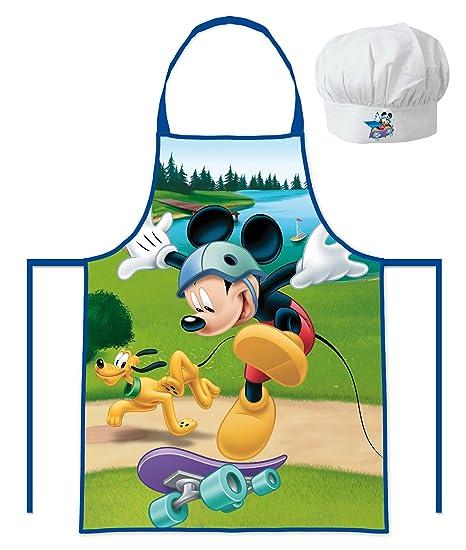 Grembiule e cappello da chef Topolino Disney - da bambino ragazzo 3 8 anni - 98363956265b