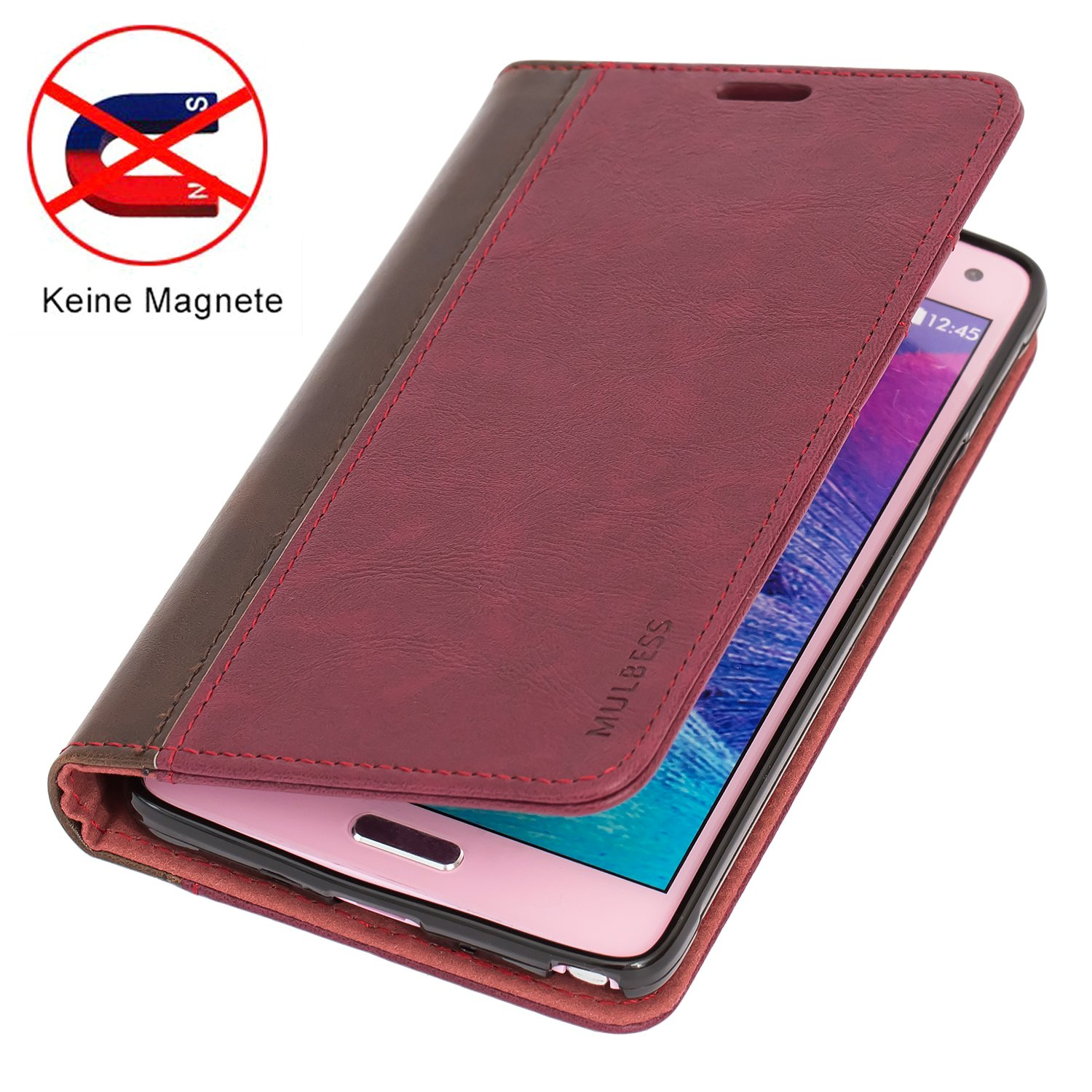 Galaxy Note 4 Casemulbess Bookstyle Leather Wallet Case Goospery Samsung J7 Plus Canvas Diary Red Cover With Kick Stand For 4wine Cell Phones Accessories