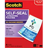 Scotch Self-Seal Laminating Pouches, 25 Pack, Letter Size (LS854-25G-WM)