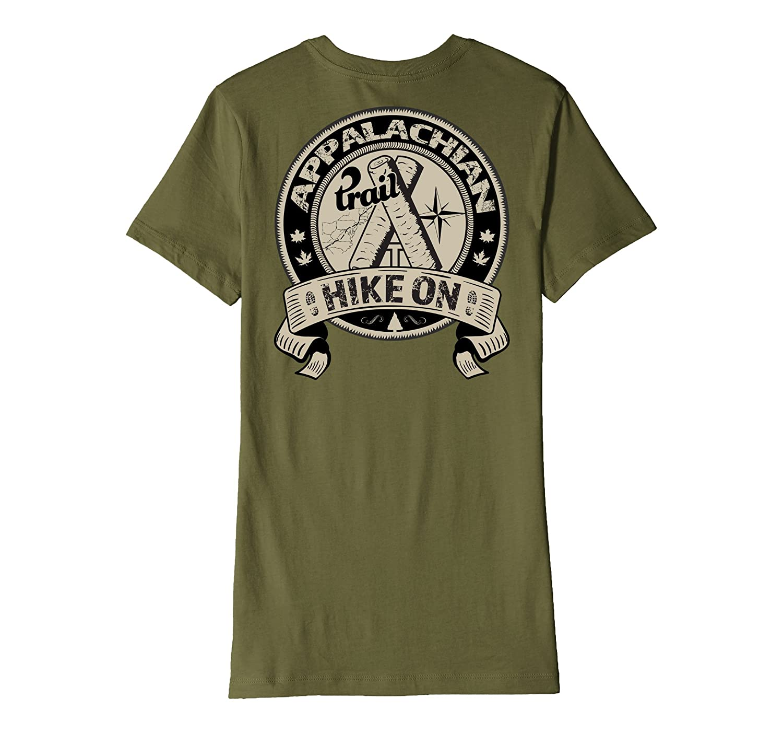 Appalachian Trail Hike On Map Premium Back-Printed T-Shirt