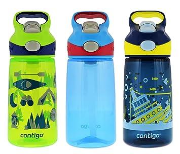 Contigo Autospout Striker – Botella para agua (414 ml, Granny Smith verde Camping,