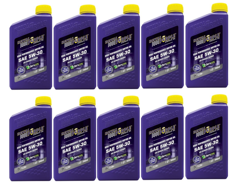 Royal Purple 5W-30 Synthetic Motor Oil Case (10 Quarts)