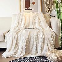 RuoCherg Manta, de Peluche Manta Sofa Lanuda Hecha de Suave y Cálido, 130x160 cm Manta de Vellón de Piel Manta Pelo…