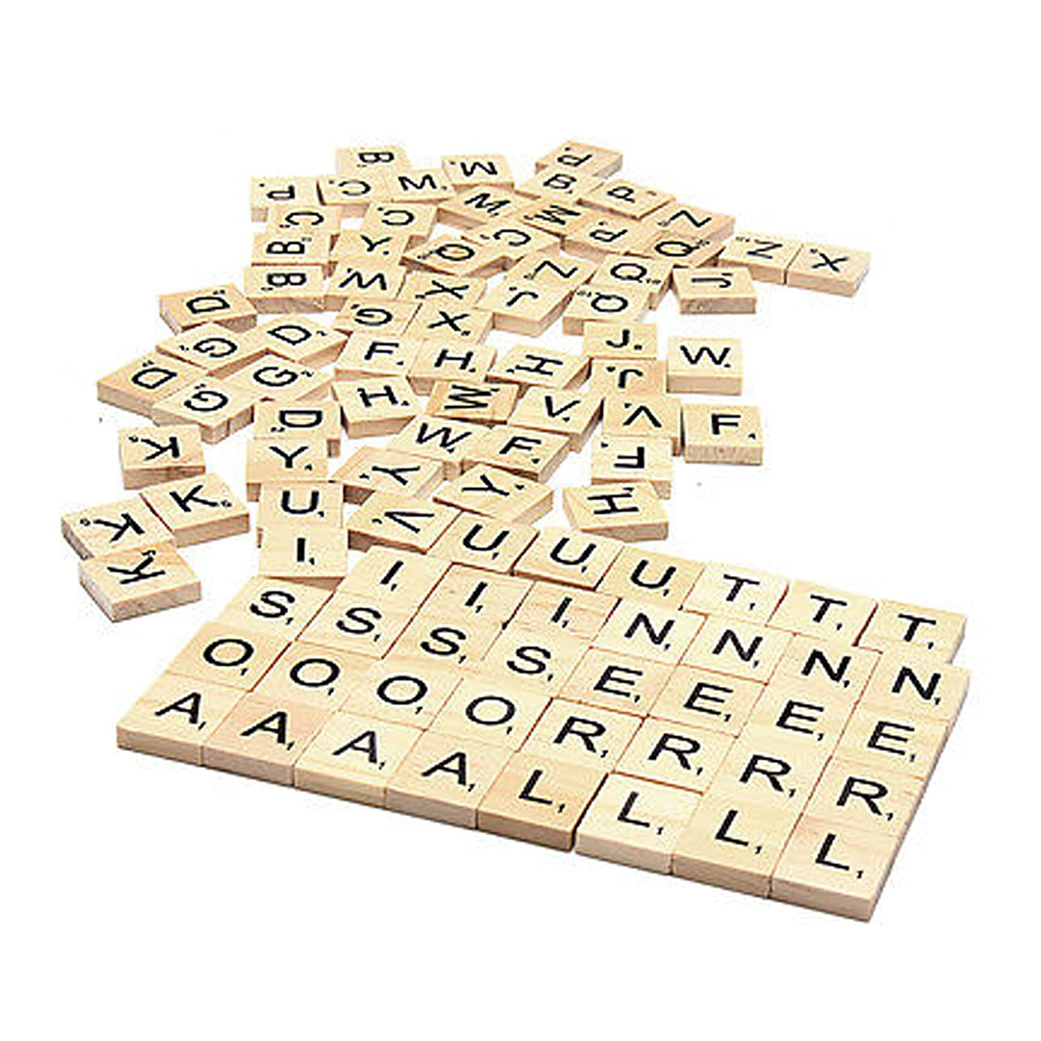 Set Of 200 Wooden Scrabble Letters Tiles For Wood Crafts Arts Crafts And Scrapbooking Embellishments By Wedding Decor
