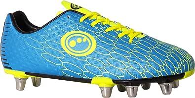 Optimum Men's Viper Senior Rugby Boots, Blue (Cyan/Yellow Cyan/Yellow)