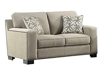 Outstanding Amazon Com Homelegance Gowan Loveseat With Nail Head Gamerscity Chair Design For Home Gamerscityorg