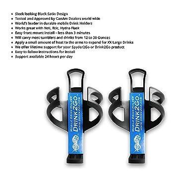 drink2go abrazadera cualquier lugar soporte para tazas 2 Pack – para motocicletas, barcos, quads
