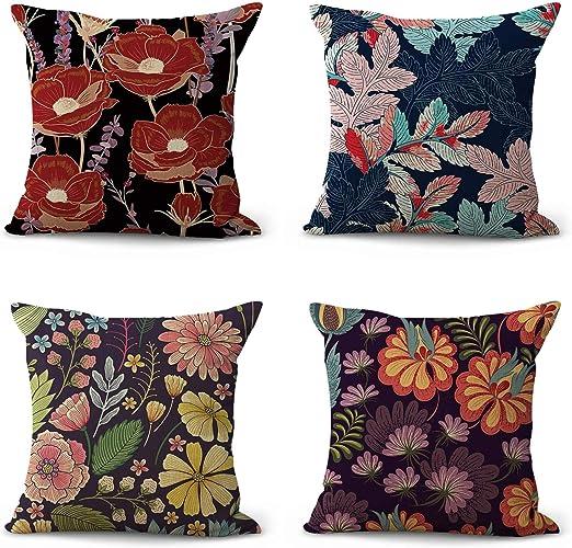 Amazon Com Wholesalesarong Set Of 4 Spring Summer Floral Cushion