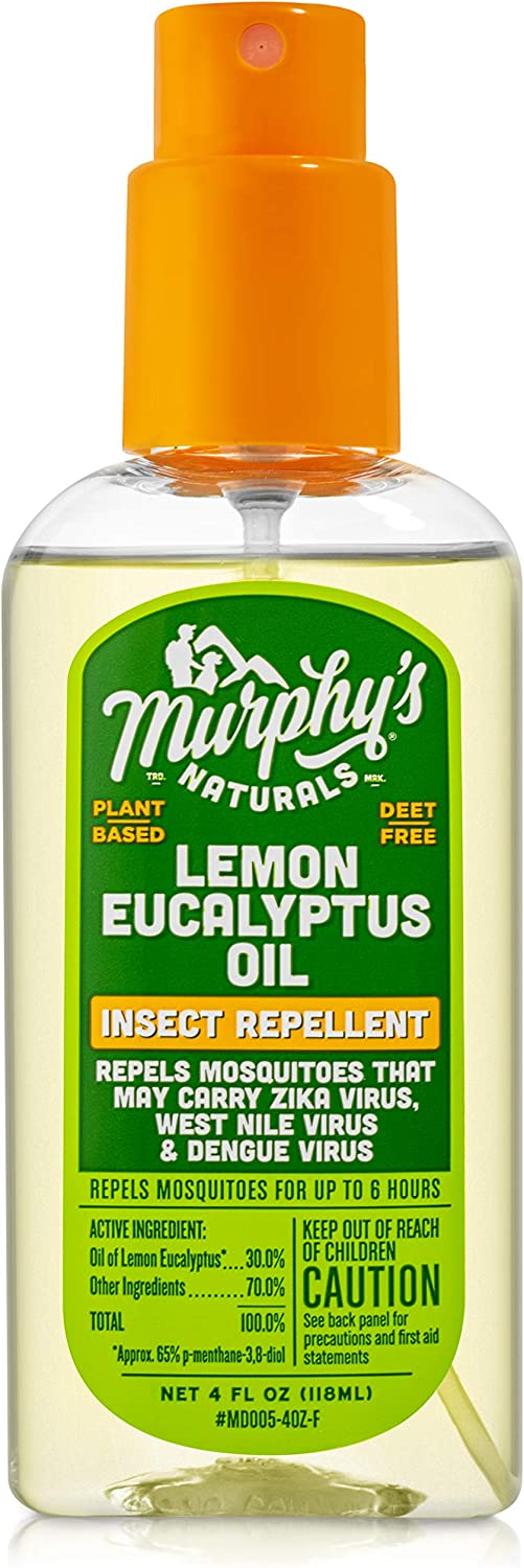 Murphy's Naturals Lemon Eucalyptus Oil Insect Repellent   Plant Based with All-Natural Ingredients   4 Ounce Pump Spray