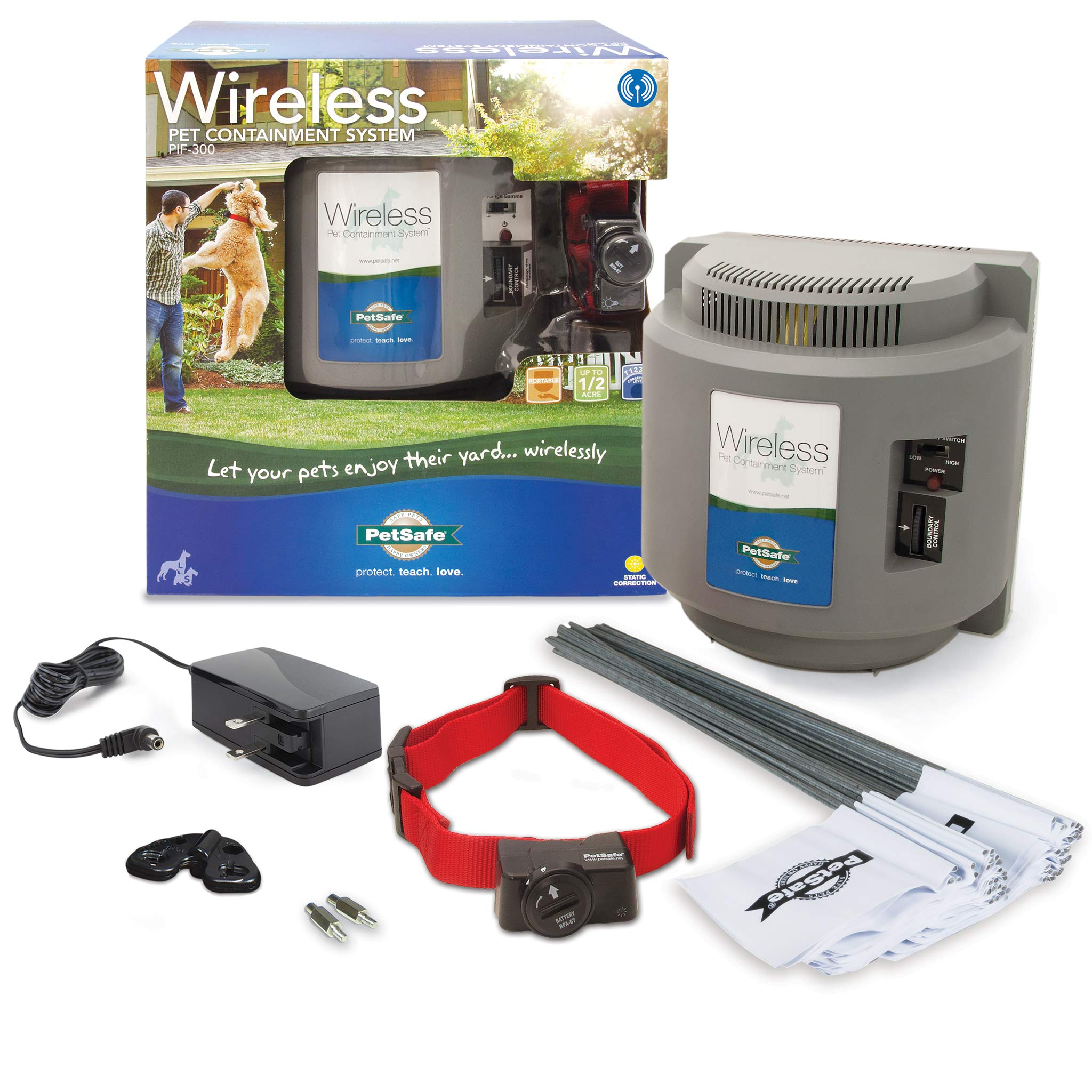 PetSafe Wireless Dog and Cat Containment System - from the Parent Company of INVISIBLE FENCE Brand - Above Ground Electric Pet Fence by PetSafe