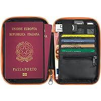 Cartera de Viaje Compacto Porta Pasaportes Documentos Monedero con Cremallera - Nuevo 2ª generación - 13 Compartimentos…