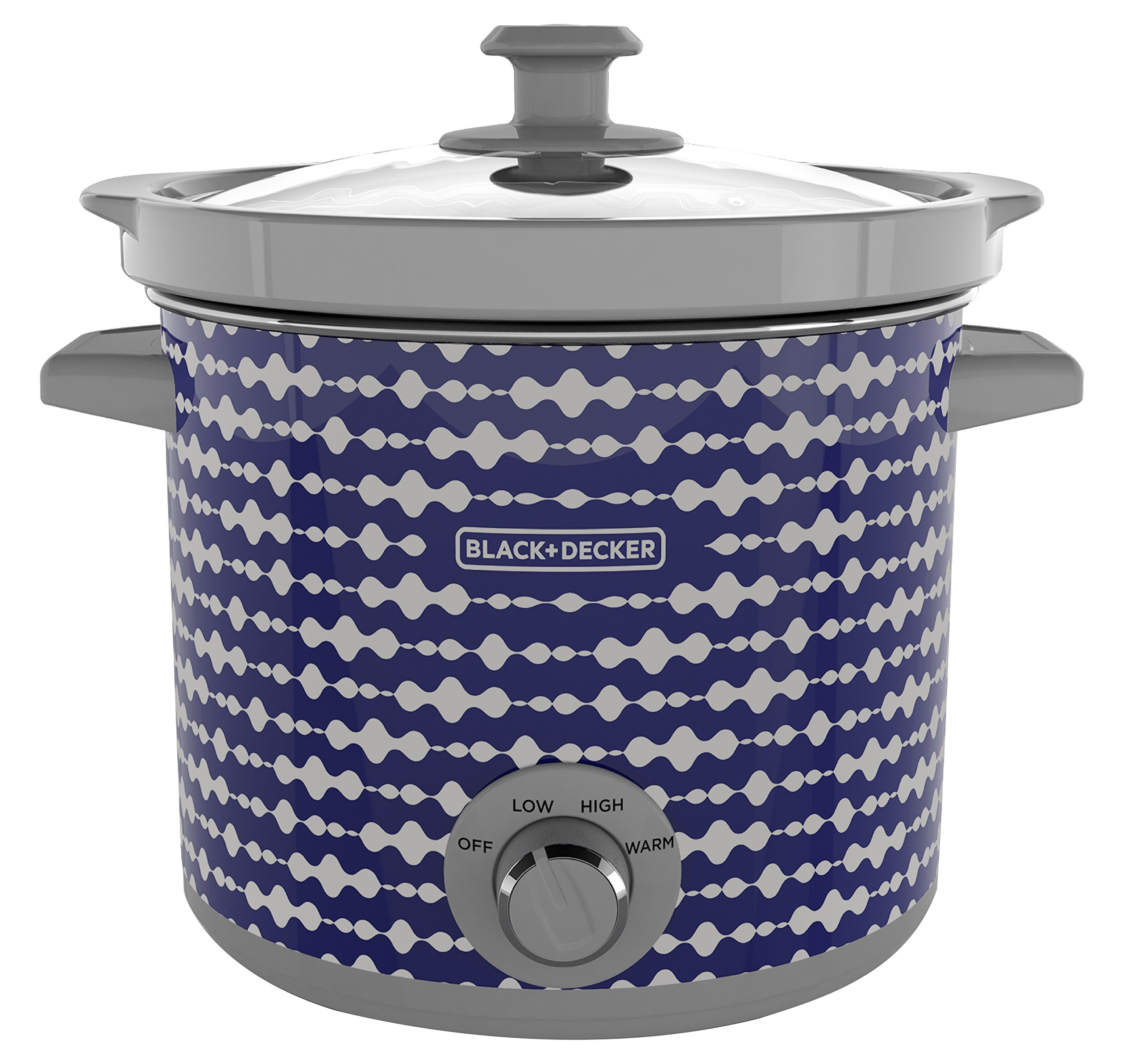 BLACK+DECKER SC2004D 4 Quart Dial Control Slow Cooker with Built in Lid Holder, Purple Pulse by Black & Decker (Image #1)