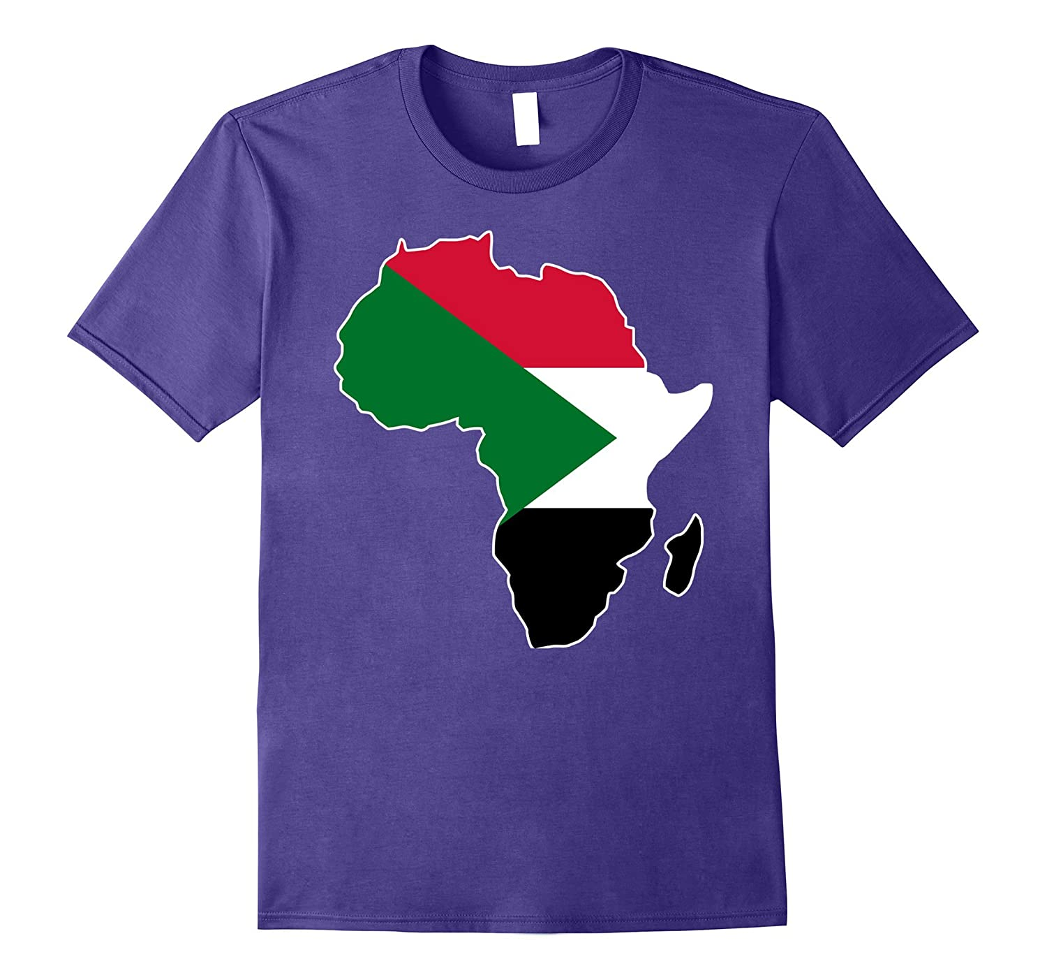 Sudan flag t-shirt Africa map t-shirt-BN