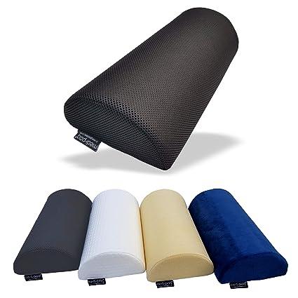 Medipaq® Almohada con cojín de espuma de memoria original Medialuna - Cojín suave y firme en forma de D: se usa para el cuello, la parte inferior de ...