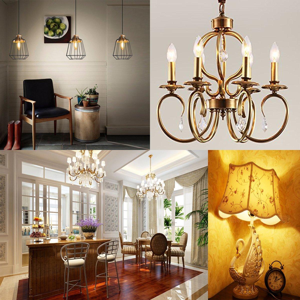 Wedna 10 Pezzi Lampadine LED E14 a Filamento Non Dimmerabile Stile B 4W lampadina a candela Equivalenti a 40 W Incandescenza 2700K Luce Calda 420lm