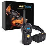 PetSpy P620 Dog Training Shock Collar for Dogs with Vibration, Electric Shock, Beep; Rechargeable and Waterproof Remote Train