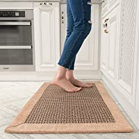 Kitchen Floor Mats for in Front of Sink Kitchen Rugs and Mats Non-Skid Twill Kitchen Mat Standing Mat Washable