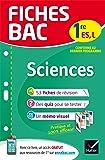 Fiches bac Sciences 1re ES, L: fiches de révision Première ES, L