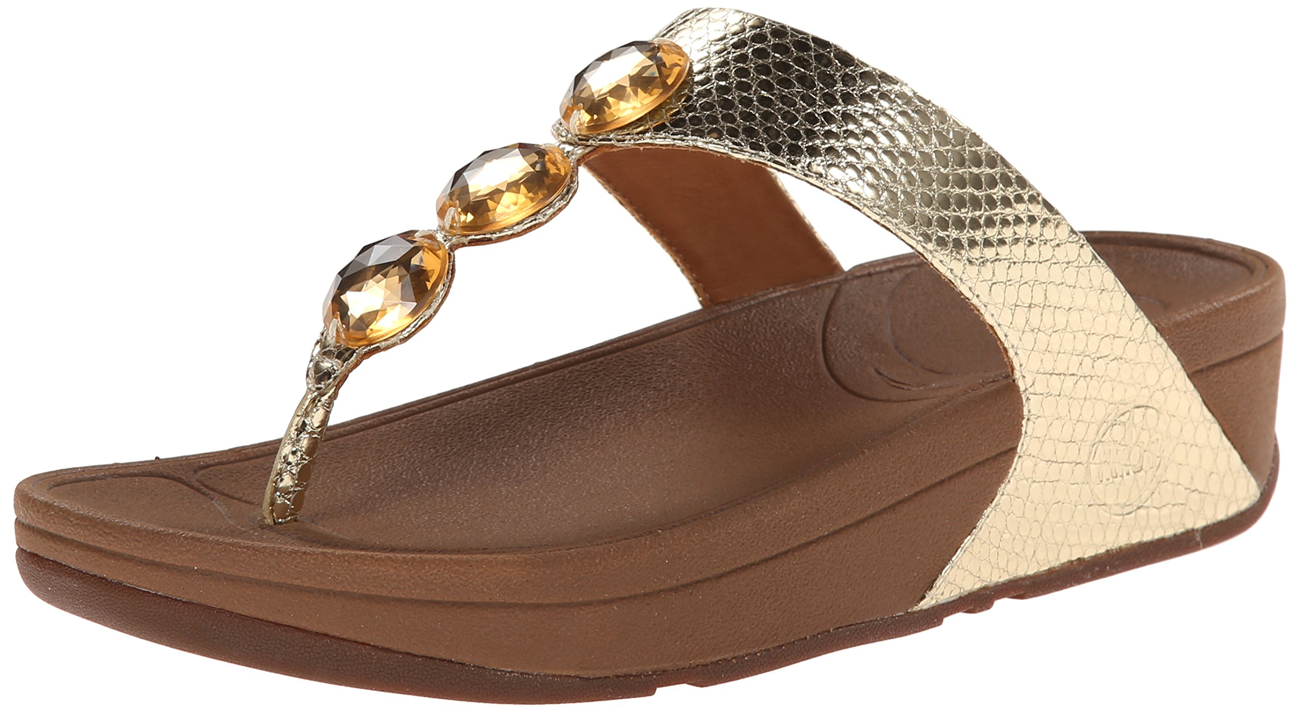 FitFlop Women's Petra Flip Flop, Pale Gold, 8 M US by FitFlop
