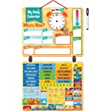 "2018 Kids Daily Calendar with ""134 Learning Magnets"" Hang on Wall or Fridge. Fun Educational Activity for Home or School. Weather, Time, Season, Activities, Emotions"
