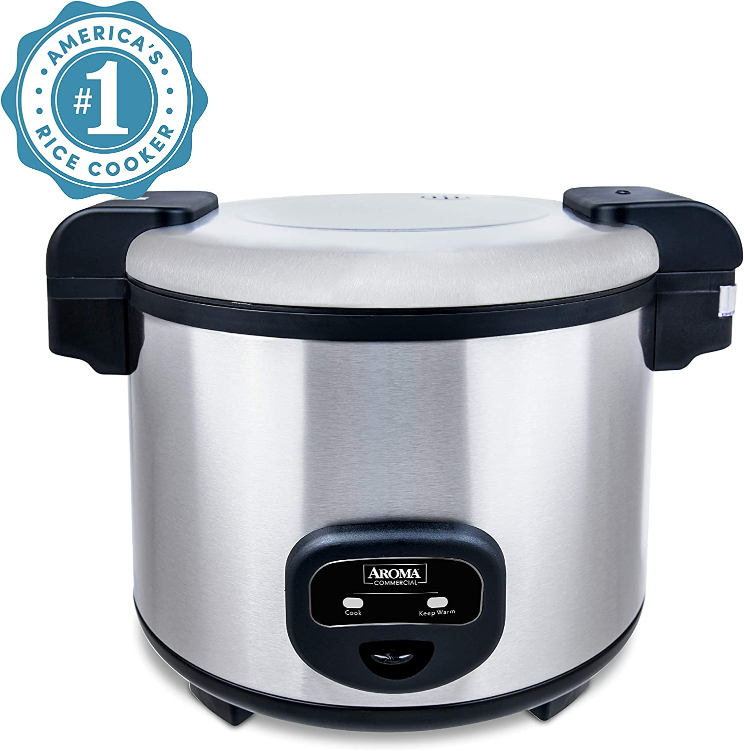 B003DYZYN8 Aroma Housewares 60-Cup (Cooked) (30-Cup UNCOOKED) Commercial Rice Cooker, Stainless Steel Exterior (ARC-1130S) 81W3nitOinL.SL1500_