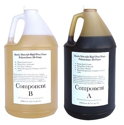 Liquid Urethane Rigid Pour Foam 2 Lb Density - Gallon Kits - 2 Gallons Total