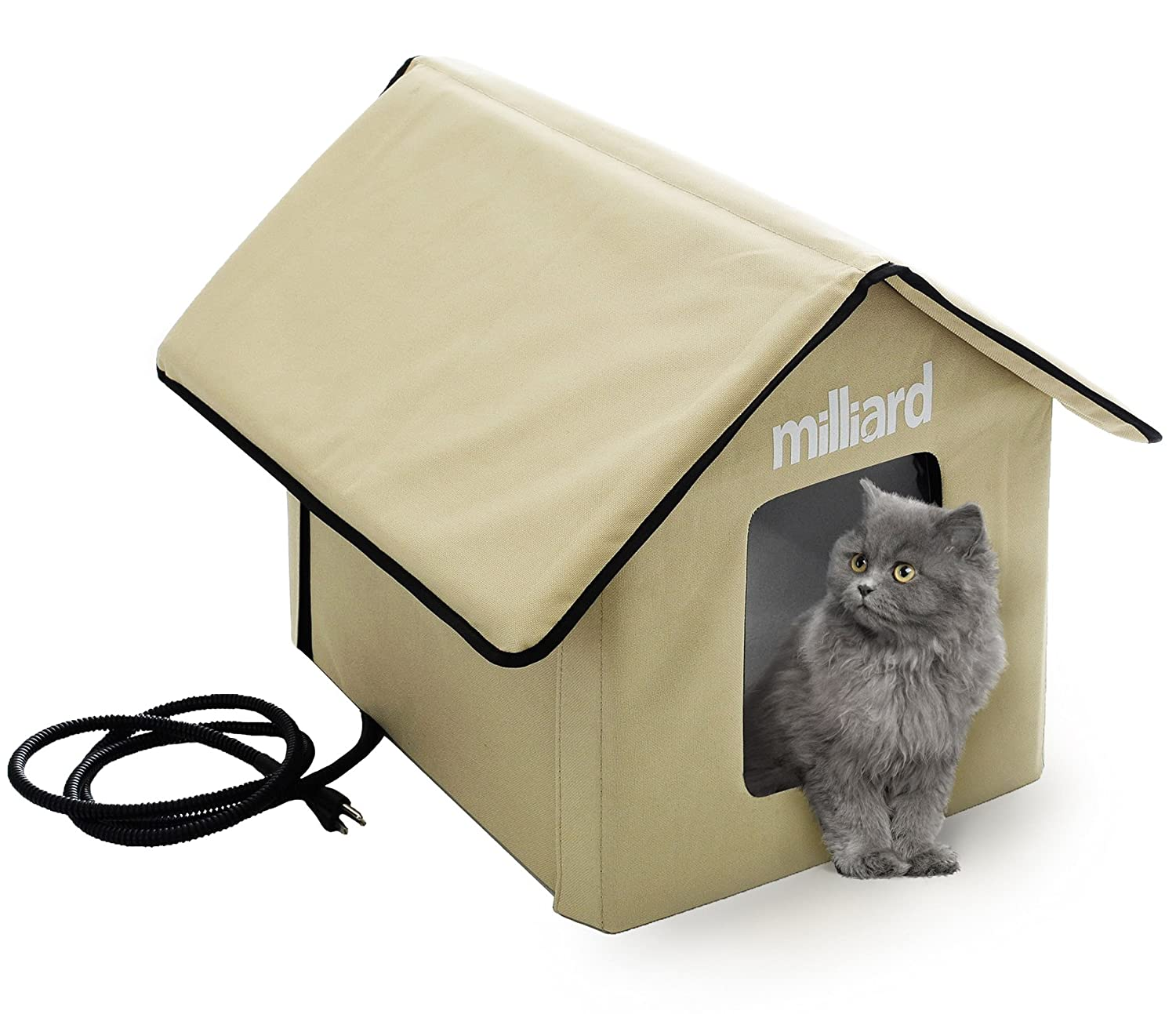 Amazon.com : Milliard Heated Cat House, Outdoor Pet House Small ...