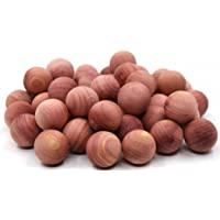 Cedar Moth Balls, Aromatic Red Cedar Wood Blocks Moth Repellent for Clothes Storage Closets and Drawers Protection Air Freshener (50)