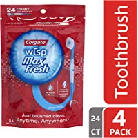 Colgate 4-Pack of 24 Count Max Fresh Wisp Disposable Mini Toothbrush