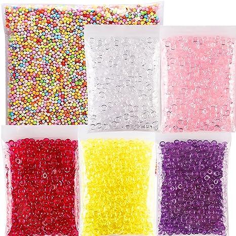 Brodi pecera cuentas para crujientes Slime, perlas de plástico florero Filler para casera Limo,