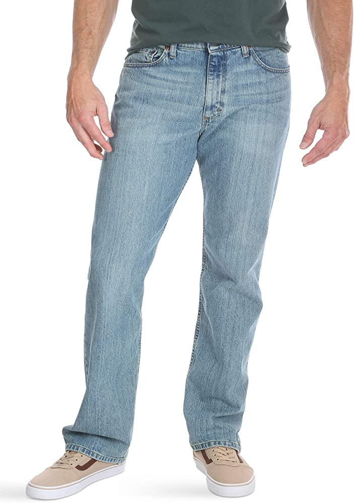 eccdae97 Wrangler Authentics Men's Comfort Flex Waist Jean, Chalk Blue, 29x30 ...