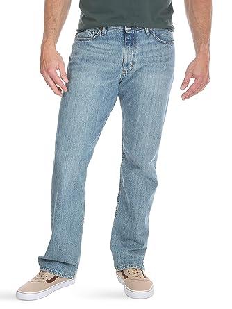 1231cd44 Wrangler Authentics Men's Regular Fit Comfort Flex Waist Jeans, Chalk Blue,  32x30
