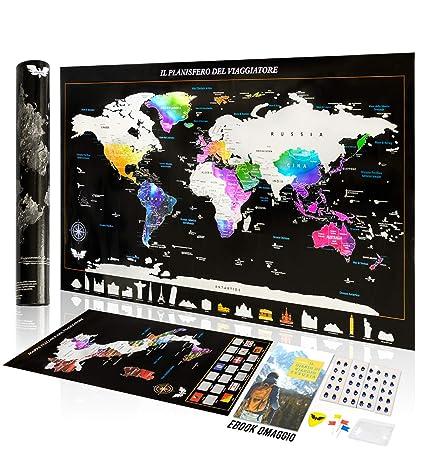 Mapa Geográfico Italia para rascar, mapa del mundo para rascar ...