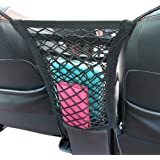 "Cargo Net - Car Organizer Dual Layer Mesh Organizer, [12.6""x11""]Car Pet Barrier - Dog Barrier to Keep Your Pets and Drivers Safety in Travel, with Bonus Free Hooks by SNBLO"
