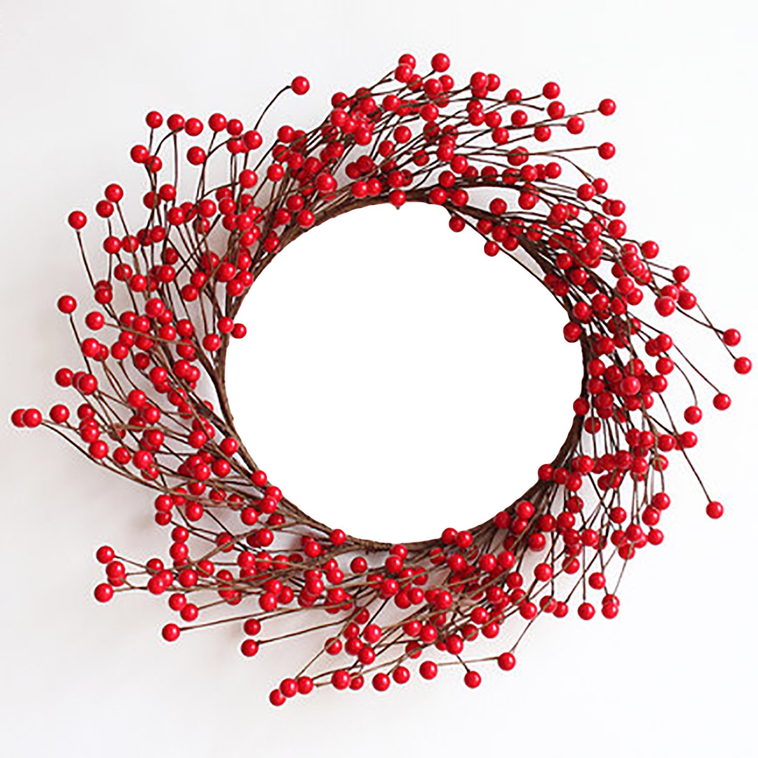 16 Artificial Red Berries Christmas Wreath for Christmas Holiday Wedding Parties Decor rescozy