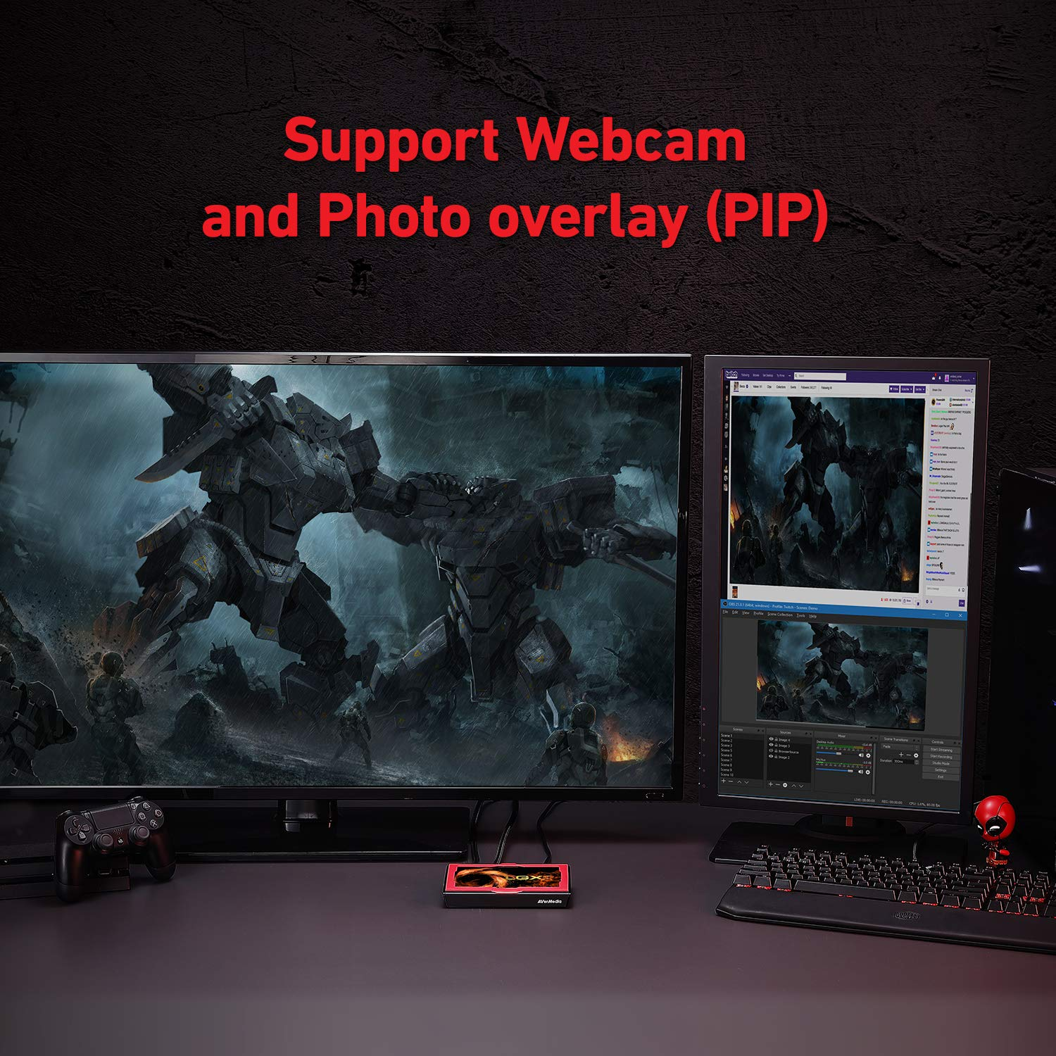 Plug and play Capture Card - YouTube /& Twitch Live Gamer Portable 2 Switch gameplay in 1080p60 LGP 2 AVerMedia GC510