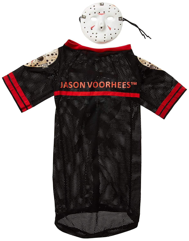 Disfraz para mascota - Jason Voorhees, perro talla M: Amazon ...