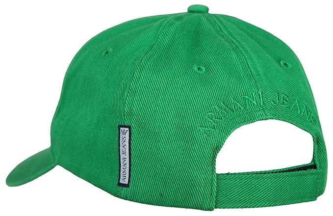 Armani Jeans - Gorra de béisbol - para hombre Verde verde: Amazon ...