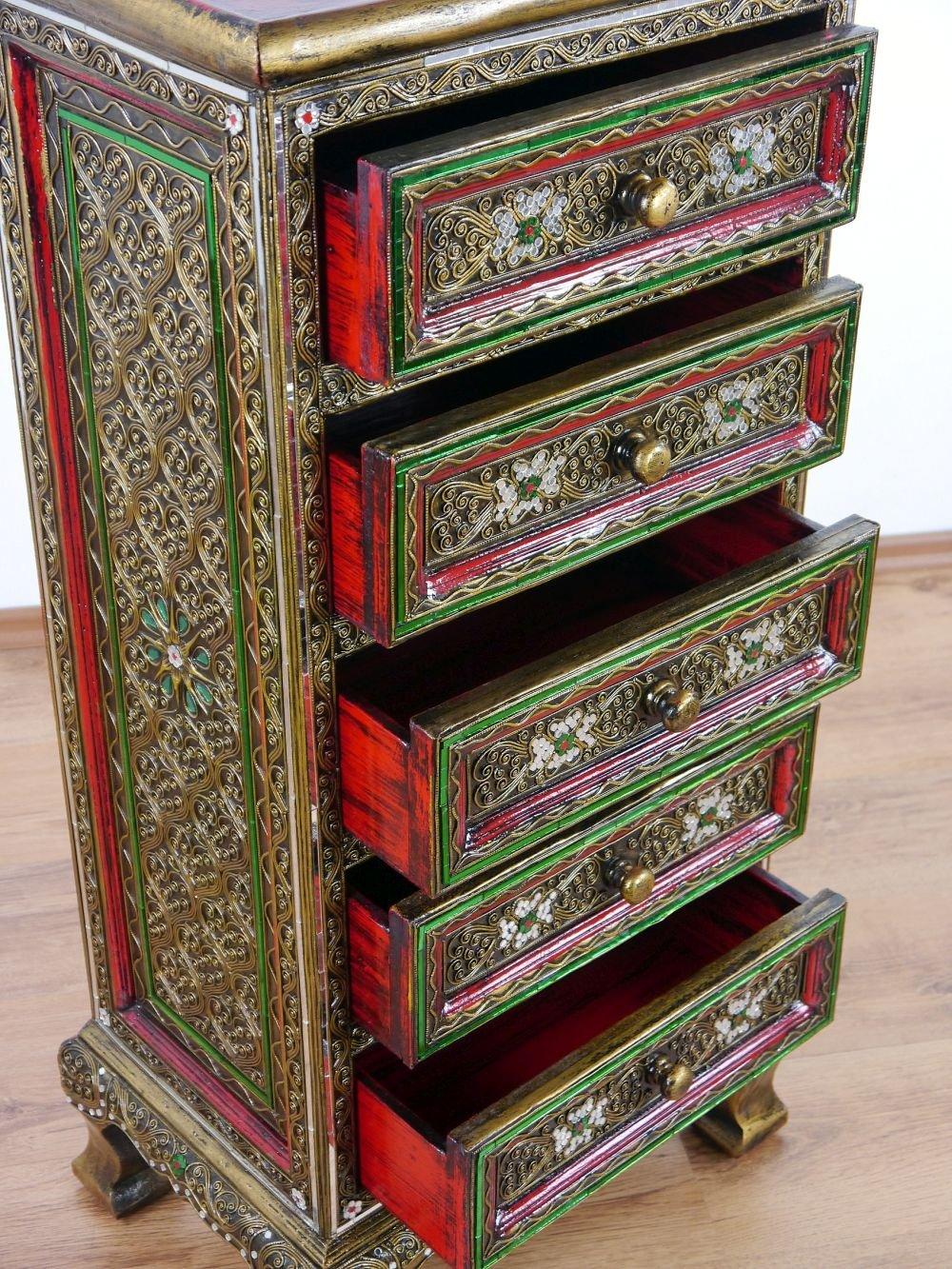 livasia asiatische Kommode im Glasmosaik-Look Schrank Nr.35 Kommode Handarbeit